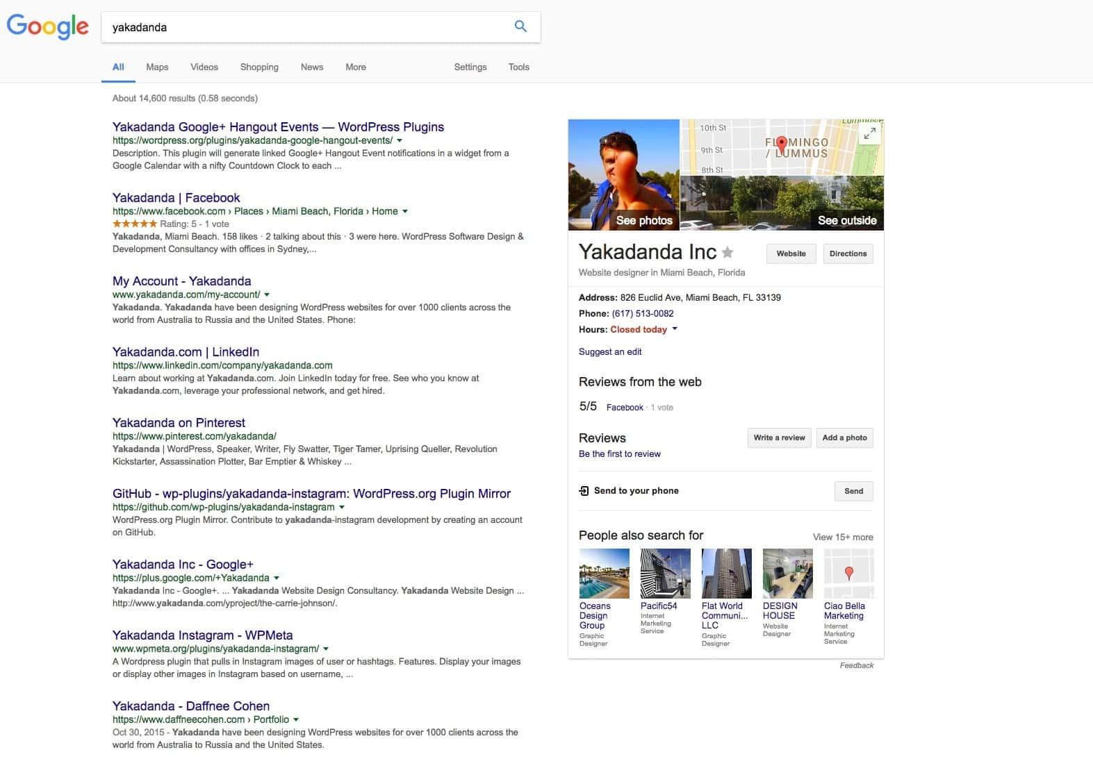 Google Search Result Yakadanda